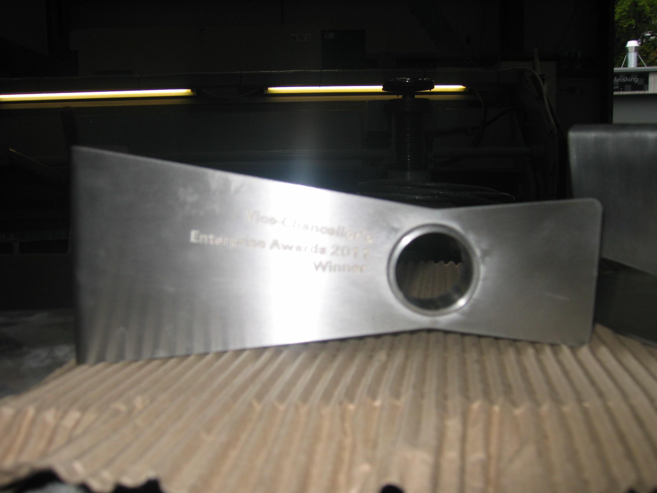 Waterjet cut plate