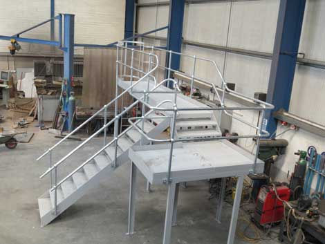 Steel Fabrication of Staircases
