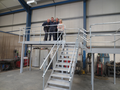 Steel Platform and Staircase Fabrication