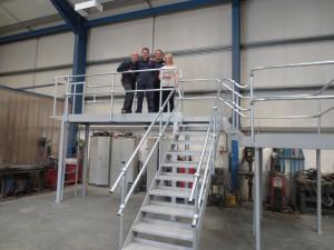 British Ceramic Tile's Steel Platform and Staircase