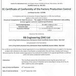 CE Marking Certificate