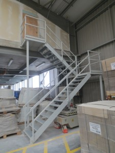 Fabrication of Fire Staircase