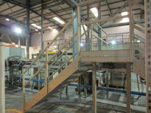 Platform staircase fabrication 1